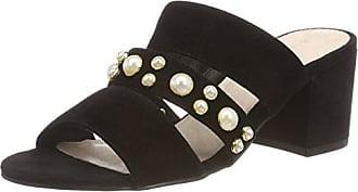 Eu 10 Femme Mules 40 Pearl Bianco Strap Noir Sandal black 70zw6Z
