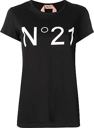 shirt Zwart T Met N°21 Logoprint ZqO65w