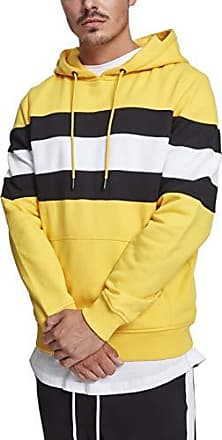 large chromeyellow 01565 Chest Hombre black Striped X white Capucha Urban Classics Para Hoodie 7AnHxO0fwq