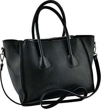 Schwarz Leder In Damentasche Farbe Made Leather Echtes Italienische Dream Lederwaren Italy Handtasche Damen Bags q1YTxv