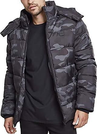 Camo 00707 Hooded Hombre Urban Classics darkcamo Large Mehrfarbig Chaqueta Jacket Puffer Para B1FZ4