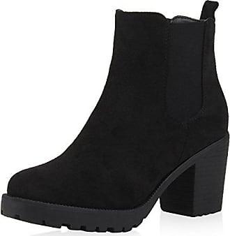 164144 Profilsohle Stiefeletten Scarpe Chelsea Blockabsatz Vita Damen Schwarz 40 Velours Boots xfPn0qgwCp