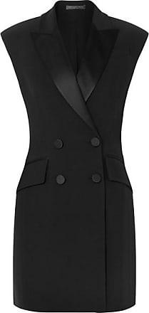 Mini À En Smoking robe Crêpe Alexander Boutonnage Mcqueen Façon Double Noir q54TcSC