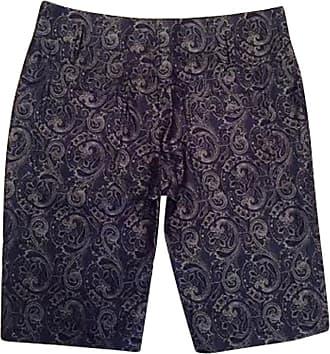 gebraucht - Seidenshorts mit Muster - DE 34 - Damen - Blau - Seide Balenciaga