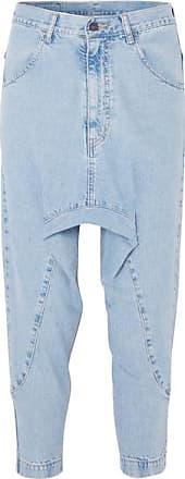 Super Lo Slung Verkürzte Jeans - Mittelblauer Denim Bassike