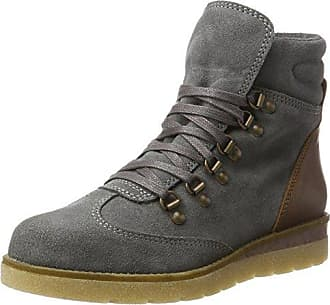Bianco Warme Plattform, Rangers Boots Femme, Noir (Black 10), 37 EU