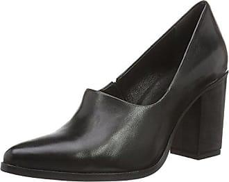 Bianco Blok Heel Pump 24-49780, Escarpins Bout Fermé Femme, Noir (Black 10), 36 EU