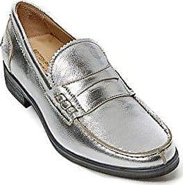 Loafer, Damen Mokassins Silber Silber/Schwarz, Silber - Silber/Schwarz - Größe: 40 EU British Passport