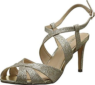 Buffalo David Bitton Buffalo Shoes 16S15-6 Glitter, Sandales Bout Ouvert Femme, Argent (Silver), 41 EU