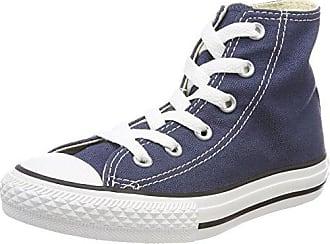 Converse Chuck Taylor CTAS Hi Leather, Zapatillas Altas Unisex Niños, Gris (Wolf Grey/Black/White 020), 35 EU