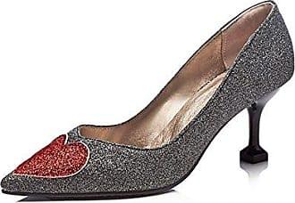 Damenschuhe Kunstleder Frühling Sommer Basic Pumpe Heels Stiletto Heel Schuhe Applique für Hochzeit Kleid Schwarz Gold, Schwarz, EU/US5.5 36/UK3.5/CN 35 Dolce & Gabbana