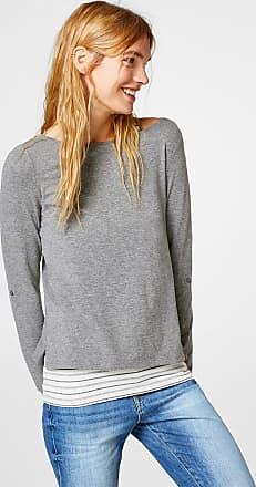 2-in-1-Shirt im Layer-Look für Damen Gunmetal Esprit