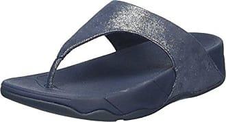 FitFlop Glitterosa TM, Tongs Femme, Bleu (Supernavy), 40 EU