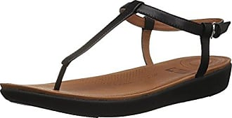 FitFlop Tia Toe-Thong Leather, Sandales Bout Ouvert Femme, Marron (Caramel 098), 37 EU