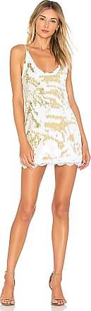 Seeing Double Sequin Slip Dress im Weiß. - Größe M (also in L,S) Free People