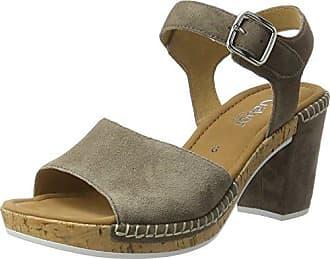 Gabor Shoes Rollingsoft, Sandales Bout Ouvert Femme, Marron (Visone/Fumo 33), 38 EU (5 UK)
