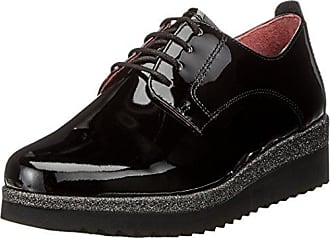 Gabor Shoes Comfort Sport, Derby Femme, Noir (97 SCHW ARG/Fu Rot), 39 EU