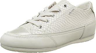 Geox D Shahira B, Sneakers Basses Femme, Blanc (White/Silverc0007), 39 EU
