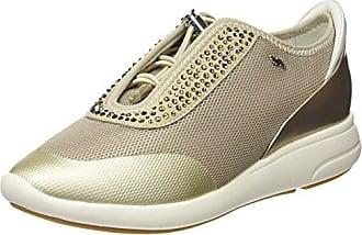 Geox Happy A, Sneakers Basses Femme, Beige (Beige/Lt Taupe), 37 EU