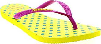 Damen Haviannas Slim Fresh Pop Up Strand Urlaub Flip Flops Sandalen - Neon Gelb - 41/42 Havaianas GDowAdjQla