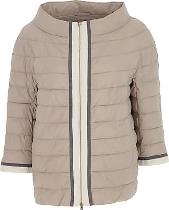 Down Jacket for Women, Puffer Ski Jacket, Turtledove Grey, polyamide, 2017, 10 12 14 Herno