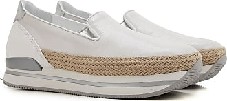 Hogan Slip on Sneakers Donna In Outlet, Beige, Pelle Scamosciata, 2017, 35.5 37.5 38.5 39 40