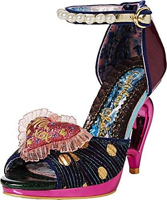 Irregular Choice Hono Lulu, Sandales Bride Cheville Femme, Rose (Pink Multi B), 39 EU