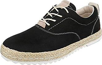 Schnürer Damen-Schuhe Oxford Schnürer Schnürsenkel Halbschuhe Schwarz, Gr 40, 7873 Ital-Design