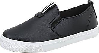 Slipper Damen-Schuhe Slipper Slipper Halbschuhe Schwarz, Gr 36, M-7A Ital-Design