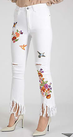 22cm Embroidered Jeans with Paillette Größe 30 MAD