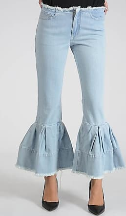 45cm Denim Boot Cut Jeans with Fringe Größe 10 Marques Almeida