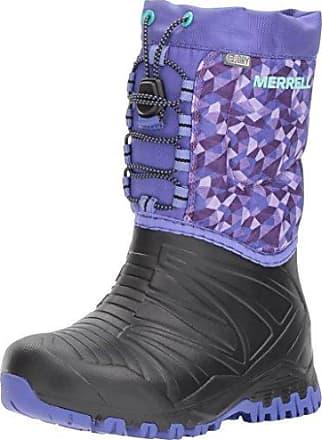 Timberland MKLK 8IN WPLACEUP BLACK 2072R - Botas de cuero nobuck para niña, color negro, talla 34