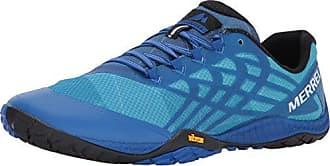 Merrell Glove 4, Chaussures de Running Trail Homme, Bleu (Nautique), 41 EU,(7 UK)