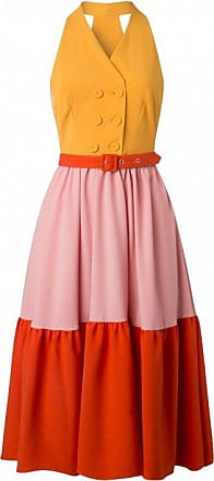 50s Lorena Sun Swing Dress in Yellow Miss Candyfloss