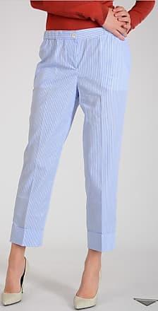 Striped Cotton Pants Größe 40 Miu Miu