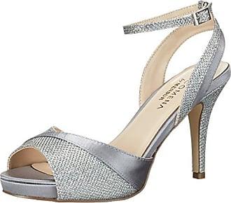 Paco Mena Diana, Chaussures à talons avec plateau femme - Blanc - Elfenbein (Ivory 04), 36 EU (3.5 Damen UK) EU
