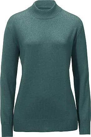 Stehbund-Pullover aus Seide Kaschmir Peter Hahn grün Peter Hahn