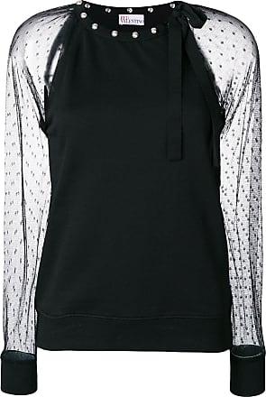 transparent style blouse - Schwarz Red Valentino