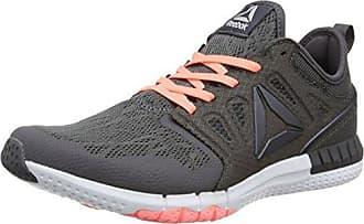 Reebok Zprint 3D, Chaussures de Running Compétition Femme, Gris (Ash Grey/Sour Melon/White/Pewter), 38.5 EU