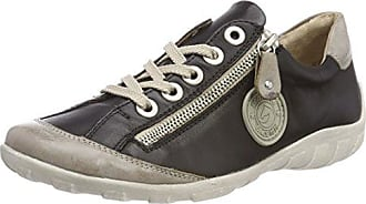 Remonte R3443, Sneakers Basses Femme, Noir (Steel/Schwarz/Schwarz), 38 EU