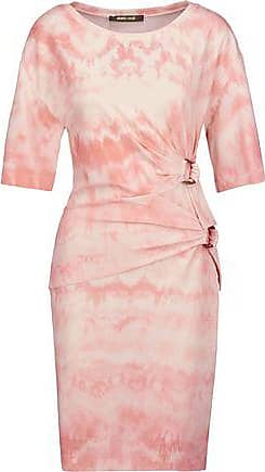 Roberto Cavalli Woman Gathered Printed Stretch-crepe Mini Dress Pastel Pink Size 42 Roberto Cavalli Discounts New Arrival Sale Online Discount Professional Largest Supplier Cheap Price Free Shipping Cheapest Price RBR5OQiQ