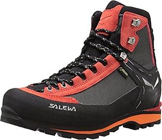 SALEWA Alp Trainer Mid GTX, Scarpe da Arrampicata Alta Uomo, Nero (Carbon/Ringlo 0766), 40.5 EU