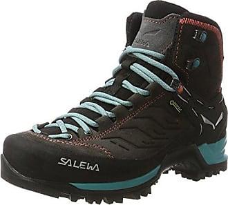 Salewa WS MTN Trainer Mid GTX, Chaussures de Trekking et Randonnée Femme, Gris (Magnet/Viridian vert 0674), 36 EU