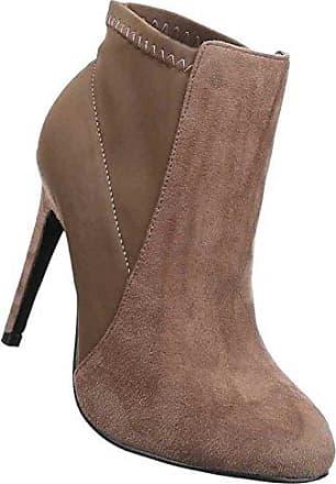 Damen Stiefeletten Schuhe Stiletto High Heels Boots Hellbraun 38 Schuhcity24 KfHsukt