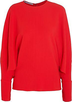 Latest Cheap Online Sale Footlocker Pictures Stella Mccartney Woman Cady Blouse Red Size 36 Stella McCartney Geniue Stockist Cheap Online Sale 2018 40Tfgk