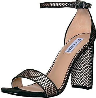 Womens Carrson Heeled Sandal, Black Mesh, 9.5 M US Steve Madden