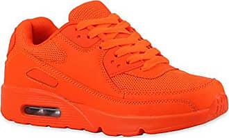 Trendige Unisex Lauf Damen Herren Kinder Sport Glitzer Camouflage Sneaker Bunt Schnür Sport Schuhe 112000 Neonorange 37 Flandell Stiefelparadies oLRpQ5O