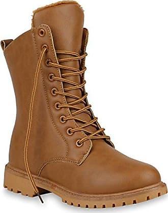 Damen Stiefeletten Outdoor Worker Boots Schuhe Warm Gefütterte 149367 Hellbraun Braun 38 Flandell Stiefelparadies 4rBZbe