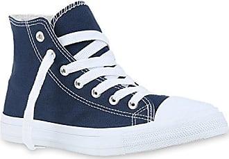 Sneakers High Damen Canvas Turn Sport Schuhe 123472 Dunkelblau 41 Flandell Stiefelparadies jxsOVkLN