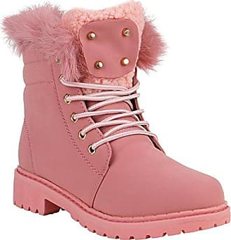 Warm Gefütterte Damen Stiefeletten Outdoor Boots Fell Nieten 151700 Rosa Avion 39 Flandell Stiefelparadies jrIgCRH